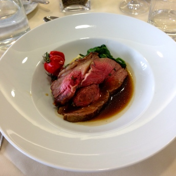 Roasted Sirloin of Lancanshire Beef with a Mustard and Herb Glaze