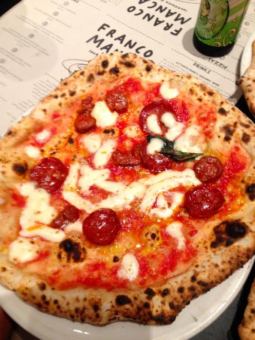 Tomato, Cured Organic Chorizo (Dry & Semi Dry) & Mozzarella