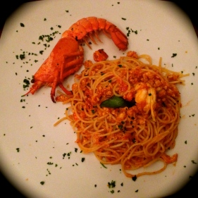 Spaghetti con Fresh Lobster