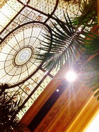 La cúpula del Palm Court
