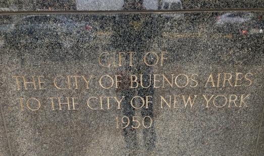Regalo de la ciudad de Buenos Aires a la ciudad de New York - 1950