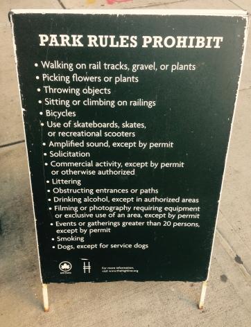 Reglas del Parque