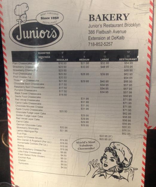 El Menú de Junior's