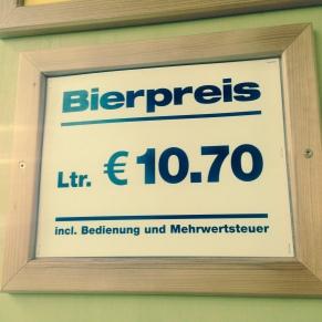 El precio de la cerveza